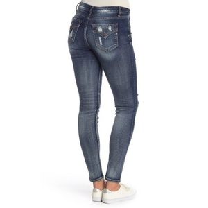 Miss Me Jeans - Miss Me Lightly Distressed Easy Skinnies